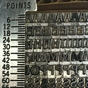 Pen Print 12 Pt Letterpress Type Printer s Metal Lead Printing Sorts Rare