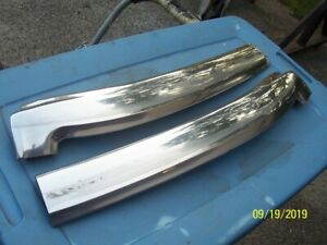 1971 73 Ford Mustang Original Convertible Upper Outer Chrome W s Frame Trim