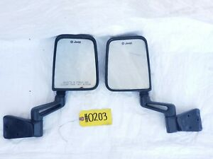 Full Half Door Side Mirrors Mirror Pair Factory 76 06 Jeep Wrangler Cj Yj Tj