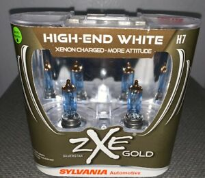Sylvania Zxe Gold Silverstar High end White 100 Street Legal Brand New