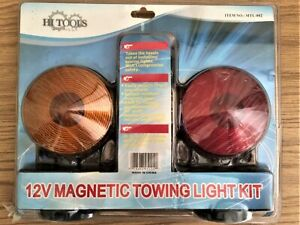 12v Portable Magnetic Towing Light Kit Tow Trailer Rv Truck Car Boat Ny Shipping