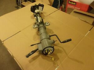 1994 1996 Chevy Caprice Impala Ss Gray Steering Column With Key Nice
