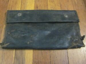 Vtg Ford Model A T Original Tool Kit Pouch Roll Horizontal Grain Rare Pre Wwii