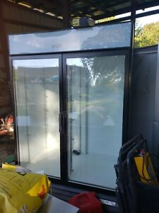 Commercial Beverage Air Double Door Cooler Used And In Good Working Condition