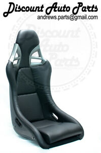 Porsche 997 Style Gt3 Seats In Black Leather W Carbon Fiber Backing Pair 911