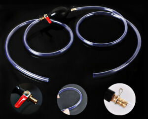 Gas Transfer Siphon Pump Rubber Water Gas Fuel Primer Pump With Fuel Line Manual
