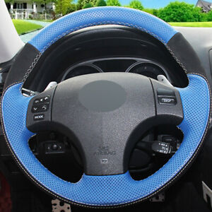 Blue Leather Diy Hand stitched Car Steering Wheel Cover For Lexus Is Is250 Is300