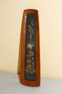 Vintage Pressed Flower Art Vintage Old Europe Unusual Wood Frame Mcm Antique Ea