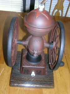 Rare Antique Enterprise Number 2 Double Wheel Coffee Grinder Country Store