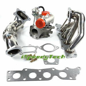 K0422 Turbo Turbo Manifold Exhaust Headers 3 Down Pipe For Mazdaspeed 3 6 2 3l