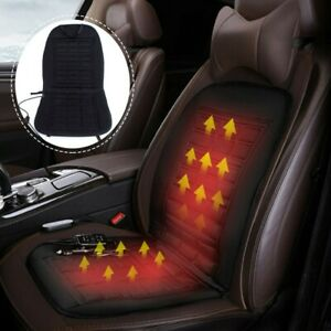 12v Black Thickening Car Seat Heated Cover Hot Heater Pad Cushion Winter Warmer