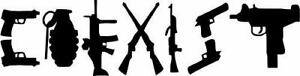 Funny Decal Gun Control Sticker Coexist Window Pro Nra Truck 2nd Amendment