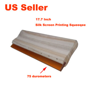 2pcs 17 7 Screen Printing Squeegee Silk Screen Printing Squeegee 75 Durometer