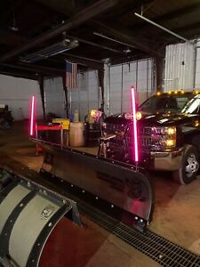 Led Snow Plow Marker Pink 36