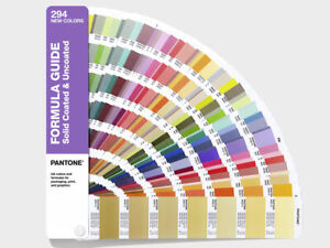 Pantone Formula Guide Solid Coated Uncoated Supplement 294 New Solid Colours