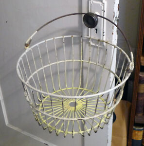 Vintage Egg Or Harvest Wire Basket For Farm Or Kitchen