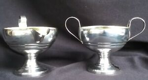 Vintage Sterling Silver Sugar Bowl And Creamer Set By M Fred Hirsch Mfh
