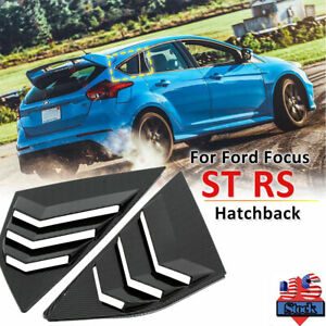 Rear Window Louvers Blinds Side Tuyere For Ford Focus St Rs Mk3 Hatchback W9q3