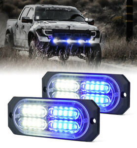 2pc 20 Led Side Marker Clearance Beacon Decorative Grille Flash Lights Emergency