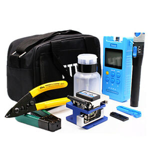 18x Fiber Optic Ftth Tool Kit Withfc 6s Fiber Cleaver optical Power Meter Finder