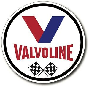 Valvoline V2 Motor Oil Sticker Decal Hotrod Ratrod Vintage Look Car Drag Race