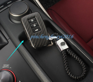 Real Carbon Fiber Remote Key Case Fob Shell Cover For Lexus Is200t 300 350 13 19