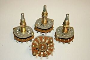 4 Pack 1 pole 10 position Rotary Switch 102 106