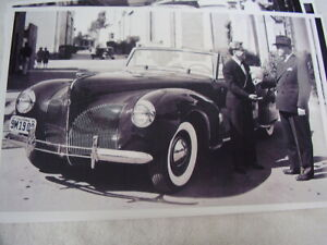 1940 Lincoln Convertible Micky Rooneys New Car 11 X 17 Picture