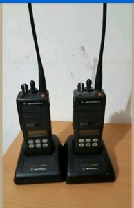 Lot Of 2 Motorola Mts2000 Model Ii Portable 2 Way Radio H01ucf6pw1bn W Antenna
