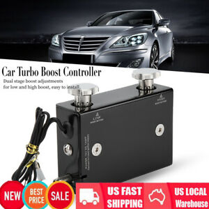 Universal Electronic Adjustable Dual Stage Car Turbo Boost Controller Kit New