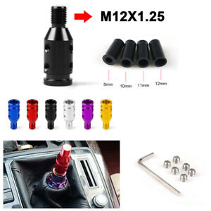Universal Car Aluminum Shift Knob Adapter For Non Threaded Shifters 12x1 25mm