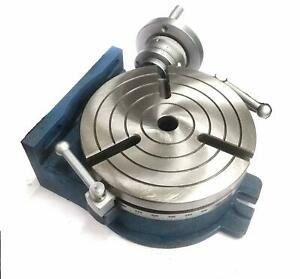 Horizontal Vertical Hv8 Rotary Table 200 Mm 8 Inches 3mt Center Bore