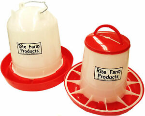 Combo Large Rite Farm Products 2 6 Gal 13 2lb Waterer Feeder Chicken Poultry