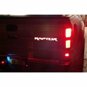 Recon 264284rd Red Led Lighted Tailgate Emblem For 2009 2014 Ford Svt Raptor
