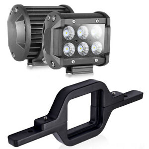 Tow Hitch Mounting Bracket 2x 4 Led Pods Work Light Bar Flood Driving Reverse