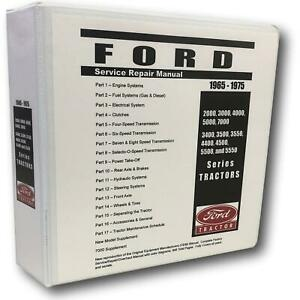 3000 Ford Tractor Technical Service Shop Repair Manual Huge 948pgs Color Charts
