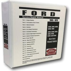 4400 Ford Tractor Technical Service Shop Repair Manual Huge 948pgs Color Charts
