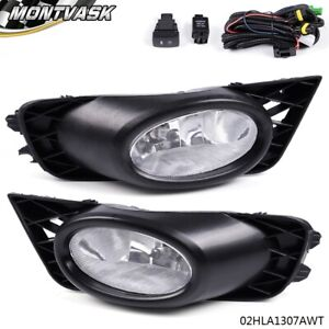 Pair Front Bumper Fog Light Lamp For Honda Civic Sedan 4 door 2009 2010 2011
