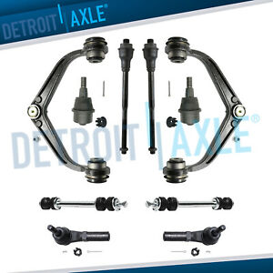 10pc Front Upper Control Arm Suspension Kit For 2011 2016 Sierra 2500 Hd 3500 Hd
