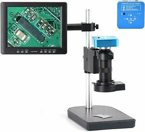 34mp Hdmi Industr Video Microscope Set System Usb Camera 100x C mount Len Led Br