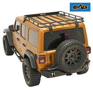 Eag Fits 18 19 Jeep Wrangler Jl Roof Rack Cargo Carrier W Wind Fairing