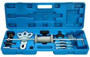 New Slide Hammer Dent Puller Tool Kit Wrench Adapter Axle Bearing Hub Auto Sets