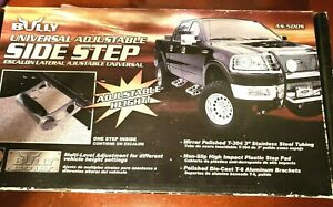 Bully As 500s Truck Steps Adjustable Aluminum Stainless Steel Polished Each
