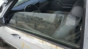 1983 1986 Mustang Coupe Door Glass Used Left Drivers Non T top