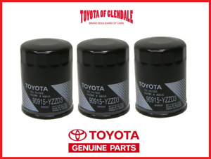 Genuine Toyota Lexus Oil Filter Set Of 3 Oem Fast Shipping 90915 Yzzd3