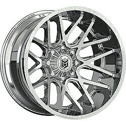 20x12 Dropstars 654c Deep Concave Chrome Wheels 5x5 5x5 5 44mm Set Of 4