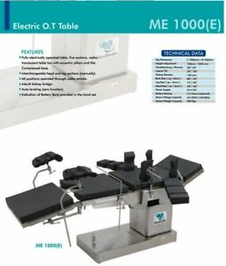Fully Electric C arm Compatible Operation Theater Ot Surgical Table Medinain