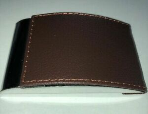 Faux Leather W chrome mirror Business Card Holder With Magnetic Closure 3 Lot