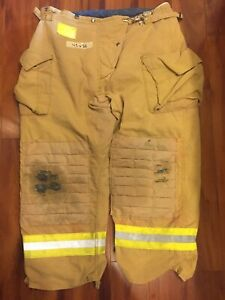 Firefighter Honeywell Morning Pride Turnout Bunker Pants 42x30 Costume Used