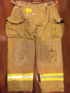 Firefighter Honeywell Morning Pride Turnout Bunker Pants 36x30 Costume Used